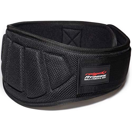 Gewichthebergürtel (+ Trainingspläne) Fitnessgürtel für Bodybuilding, Krafttraining, Gewichtheben und Crossfit Training - Weightlifting Belt für Damen und Herren (L)