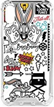 Skinit Clear Phone Case for iPhone X/XS - Officially Licensed Warner Bros Bugs Bunny Patches Design