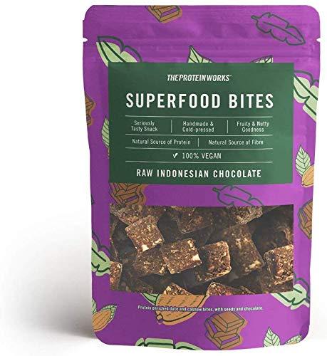 THE PROTEIN WORKS Bocaditos Superalimentos, 100% Natural para veganos, Cacao de Indonesia,...