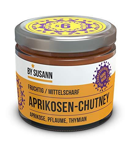 BY SUSANN – S6 APRIKOSEN-CHUTNEY im Glas (1 x 150 g), Geschmackserlebnisse mit intensiven und natürlichen Aromen, fruchtig, herb, süß, scharf