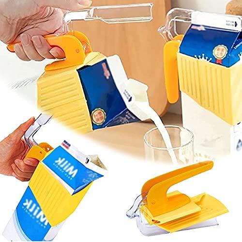 NGLSCXR Clip de sellado de cartón de leche, soporte de cartón de leche en caja con sujeción de sujeción de plumas de sellado fresco, soporte de cartón de leche portátil, fácil agarre facilita los prob