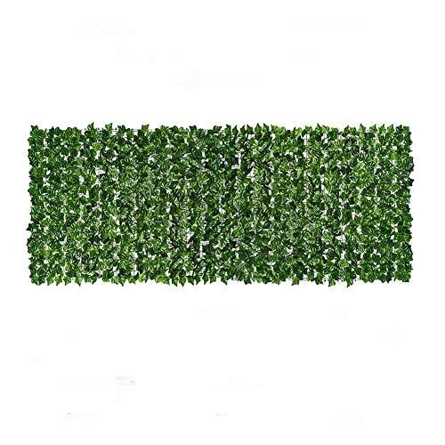 HEITIGN 0.5 * 3m Artificial Leaf Screening Roll, Artificial Balcony Fence Fade Protected Privacy Hedging Wall Landscaping Garden Fence Balcony Screen for Indoor Outdoor Decor, Dark Green Dill Leaf