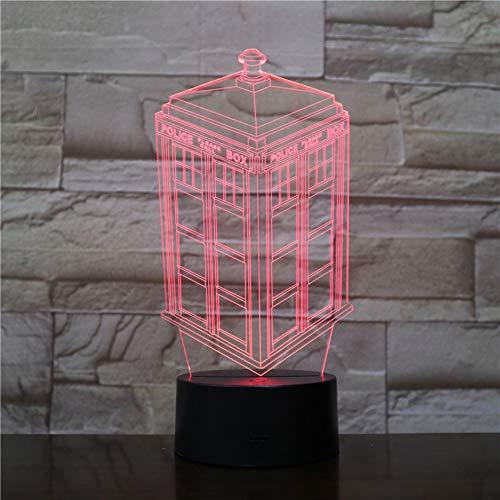 Aoyuhf Pavillon 3D Nachtlichter Usb Bunte Led Tischlampen Schlafzimmer Wohnkultur Geschenke