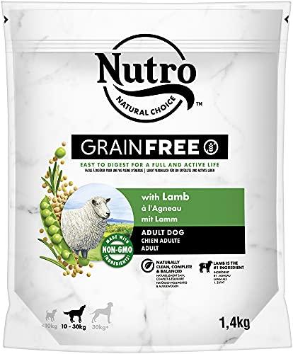NUTRO Grain Free Adulto Cordero Razas Medianas 1,4 kg 🔥