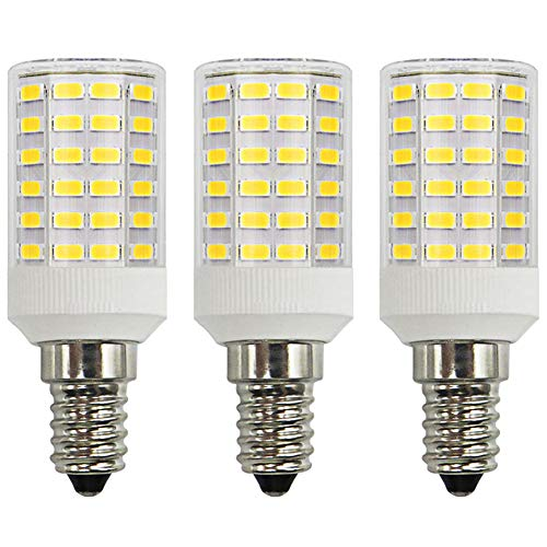 7W Mais LED E14 koel wit gloeilamp 100W kleine Edison-schroef kaars lamp vervanging super helder 6500 K niet dimbaar voor wandlamp cilinder peren, 3-pack [meerweg]
