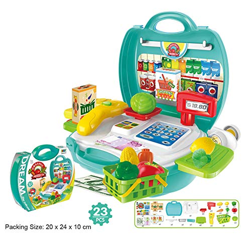MAJGLGE Kinder Spielzeug-Set für Küche, Kochen, Medizinisches Make-up, Geschenk – Küche Super Market
