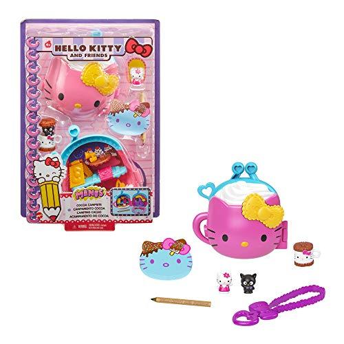 Hello Kitty Cofanetto Ciocco-Campeggio con 2 Mini Personaggi, Blocco per Appunti e Accessori, Giocattolo per Bambini 3+Anni,GVB29