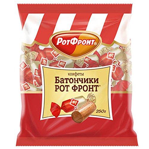 Pralinen Batonchiki Rot Front 3er Pack (3 x 250g) russisches Konfekt mit mit Ernüssen und Waffeln