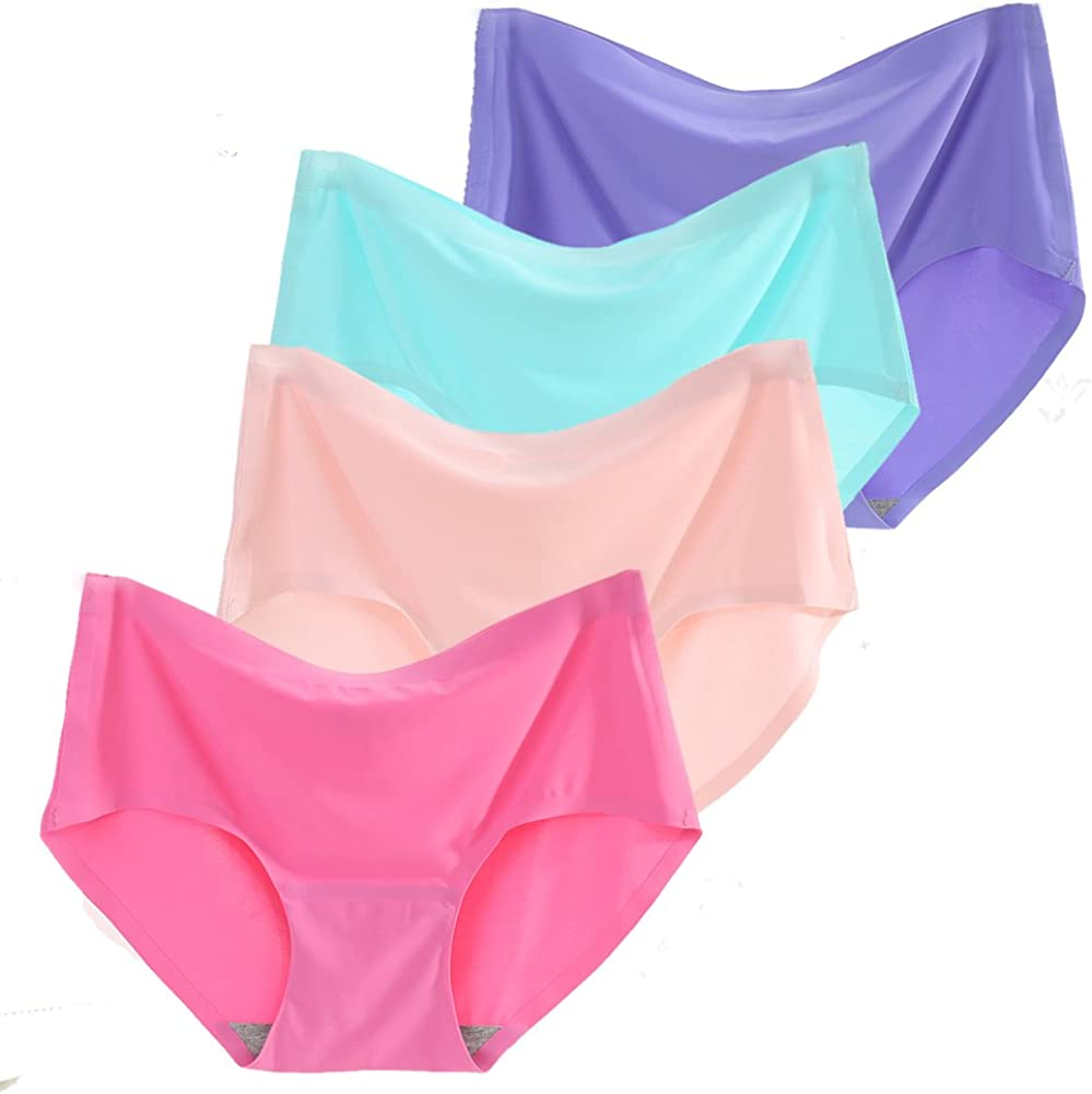 Luxury Women's 4 Pack Comfort gift Revolution Silky Brief Seamless Invisible