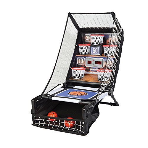 Franklin Sports Basketball Arcade Game - Table Top Bounce A Bucket Shootout- Indoor Electronic Basketball Game for Kids