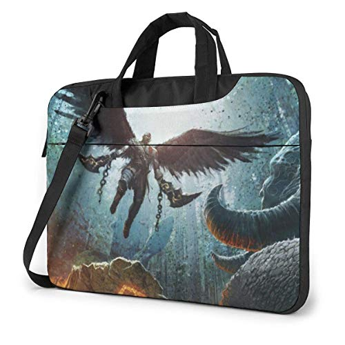 15.6 inch Laptop Shoulder Briefcase Messenger God War Tablet Bussiness Carrying Handbag Case Sleeve
