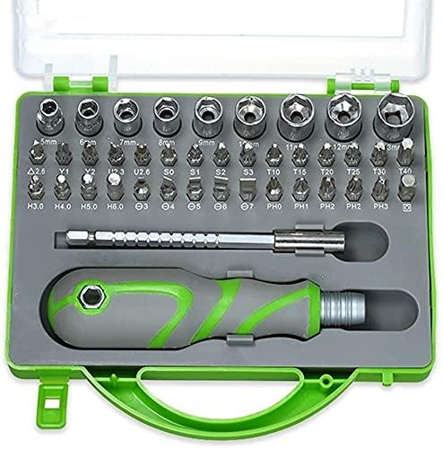 Set de Destornillador de precisión 41 en 1 Torx ranurado Transversal bits magnéticos Sockets extraíbles Teléfono doméstico PC Reparación de Herramientas Kit