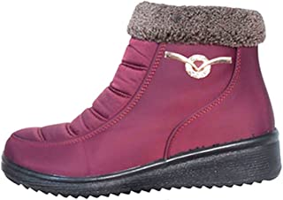 TravelNut Back to School Special Tommy Quilted Insulated Short Snow Bootie Boot with Zipper for Women (Assorted Colors)
