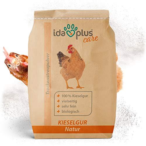 Ida Plus – Kieselgur Natur im Sack – Kieselerde als Pulver – das Produkt für ihren Hühnerstall & Garten – gut für Hühner, Wachteln & anderes Geflügel 20 Liter