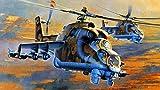 Extmnj 5D Diamond Painting,helicóptero Militar Bricolaje Completo Taladro Arte,Diamantes Imitación Bordado Pegatinas de Pared Decoración de La Sala (30x45cm)