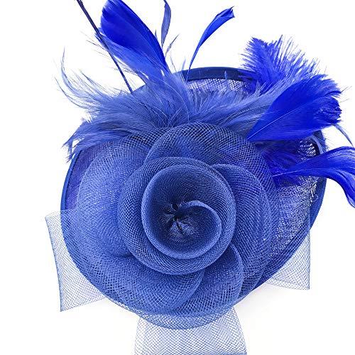 Schneespitze Femme Chapeau,Fascinator Fleur Pince,Mariage Thé Chapeau Mariage Accessoires Épingle À Cheveux pour Bandeau Tea Party