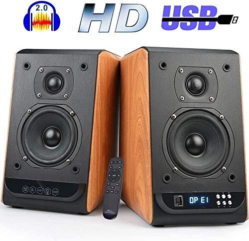 Bluetooth Bookshelf Speaker,100Watts Stereo Studio Active Speaker Pair HiFi 2.0 Optical Coaxial Input 4 Inch Near Field Speaker
