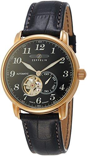Zeppelin Unisex Chronograph Quarz Uhr mit Leder Armband 7668-2
