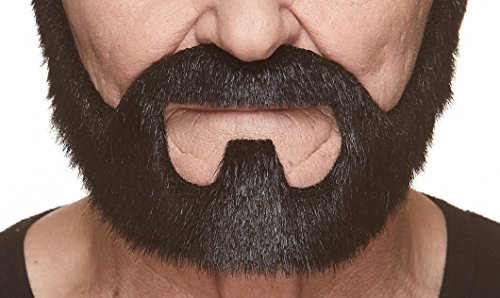 Mustaches Fake Beard, Self Adhesive, Novelty, Small On Bail False Facial Hair, Costume Accessory for Kids, Blacky Color