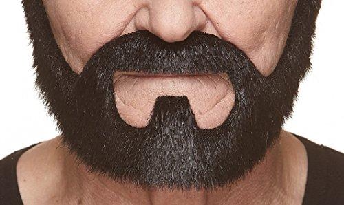 Mustaches Selbstklebende Neuheit On Bail Fälscher Bart Falsch Gesichtsbehaarung Kostümzubehör für Erwachsene Schwarz Glänzend Farbe