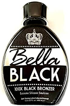 Bella Black 100X Bronzer Tanning Lotion – Premium Tanning Bed Lotion with Extreme Silicone Emulsion and Banana Fruit Extract – Instant Results – Dark Tanning Lotion for Indoor Tanning Beds - 13.5oz