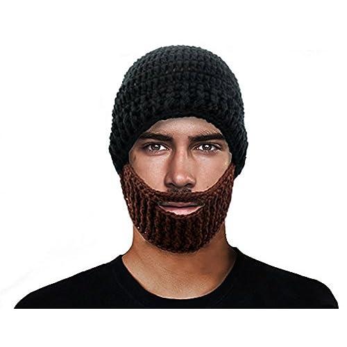 1d5180cde82 MOONPOP Roman Cosplay Knight Helmet Knit Visor Winter Mask Beanie Hat Cap