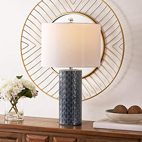 Safavieh Lighting Collection Walden 25-inch Blue Ceramic Table Lamp (LED Bulb Included) TBL4272A
