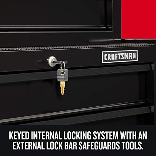 CRAFTSMAN Tool Chest Combo with Drawer Liner Roll, 26-Inch, 5 Drawer, Black (CMST82763BK)