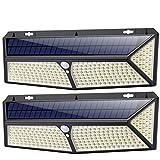 Luz Solar Exterior, [2020 Más Brillante Modelo 288 LED 2500 Lumens 2-Paquete] iPosible 270 °Iluminación Foco Solar con Sensor de Movimiento Impermeable 3 Modos Lámpara Solar para Jardín Camino