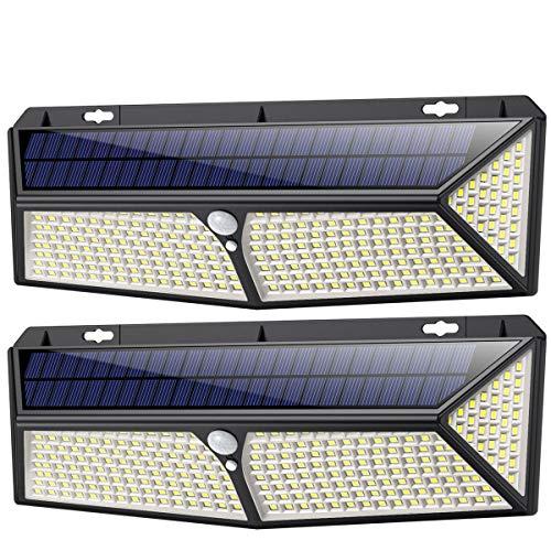 Lampe Solaire Extérieur,[ 2020 le Plus Brillant 288 LED - 2500 lumens] iPosible Lumière Solaire Etanche éclairage Solaire avec Détecteur de Mouvement Lampe de Sécurité sans Fil lampe mural pour Jardin