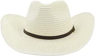 LiWen Zheng 2019 Men Women Outdoor Beach Sun Hat Sunscreen Visor Black Narrow Leather Belt Big Hat Western Cowboy Straw Hat