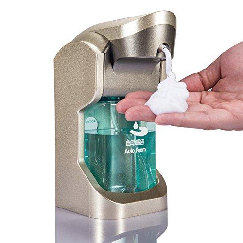 Automatischer sensor seifenspender,Dusche dispenser,Schaum maschine,Waschmittel flasche Home Handseife Ir infrarot-motion sensor hand freie spülmittel-golden