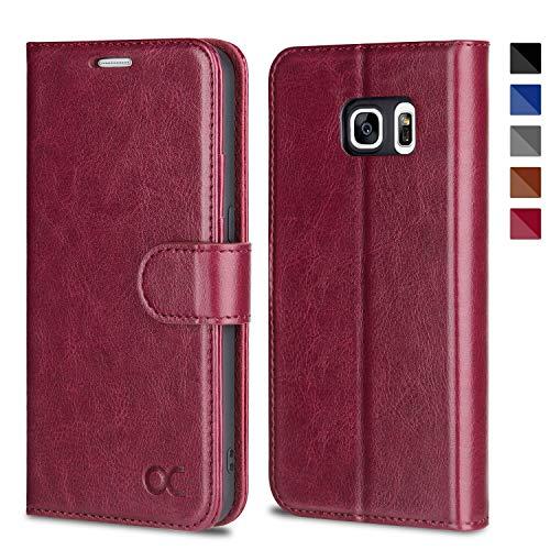 OCASE Samsung Galaxy S7 Case [ Card Slot ] [ Kickstand ] Leather Flip Wallet Case for Samsung Galaxy S7 - Burgundy