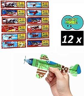 12x 3D Flugzeug Flieger Puzzle Kinder Mitgebsel Basteln Spaß Party Geburtstag