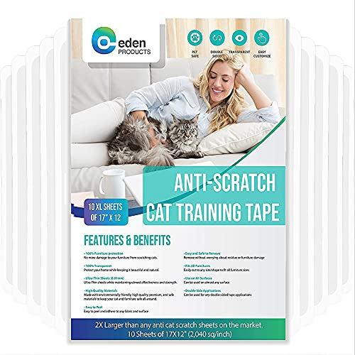 EdenPets Premium Clear Anti-Scratch Cat Double Sided Deterrent Training Tape