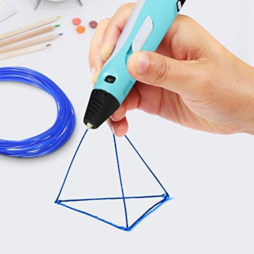 ELEGIANT 20 Stück Ink Filament PLA Filament 3D Stift Filament 1.75MM 10M 3D Print Filament 3D Printing Pen Supplies PLA Material 20 Farben Set für 3D Drucker Stift 3D Pen Kinder - 7