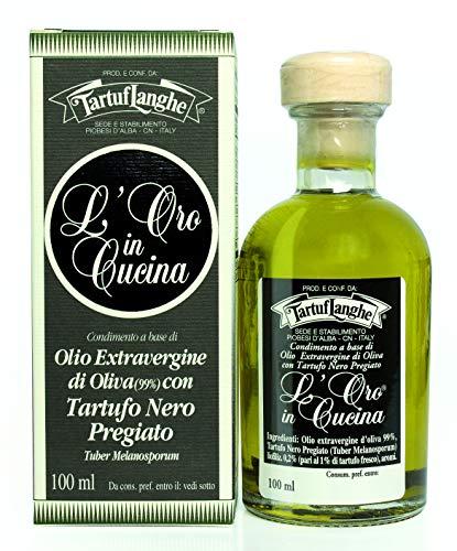 L´Oro Olivenöl Extra Vergine mit Wintertrüffel & Aroma (Trüffelöl), Tartuflanghe, 100 ml