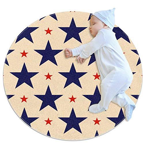TIZORAX Alfombra patriótica con Estrellas Azules y Rojas para Sala de