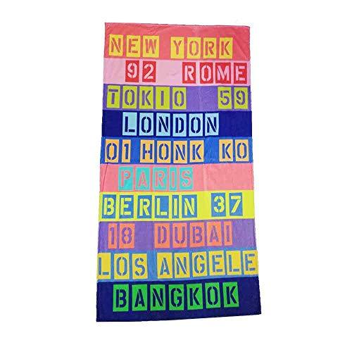 + Colorida toalla de playa Faja Multi, tamaño: aprox. 100 cm x 180 cm, 100% algodón puro, agradable al tacto y especialmente absorbente.