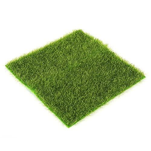 Kunstrasen Moosig für Bastelarbeiten, als Deko für Gärten und Puppenhäuser, Puppenhaus, Gras zum Basteln