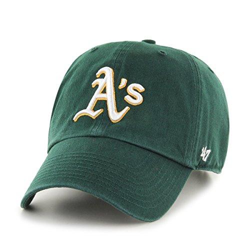 MLB Oakland Athletics '47 Clean Up Adjustable Hat, Dark Green, One Size