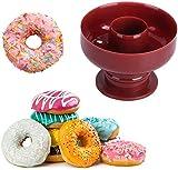 Kuyoly Molde de plástico para tartas de donut de grado alimenticio, reutilizable con diseño de mango para destruir rápido,...