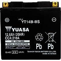 台湾製 バイクバッテリー 国内液入 初期補充電済 YUASA 純正互換品 (YT14B-BS 互換)