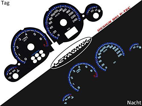 LETRONIX Plasma Tacho Tachoscheiben für Auto Astra G Zafira A 0-240Km/h 7000U/Min