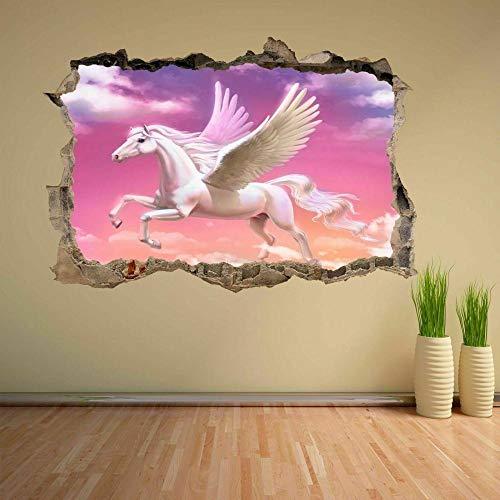 Wall Sticker Pegasus Fairy Tale Fantasy 3D Wall Sticker Mural Decal Kids Girls CT6-40x60cm