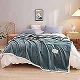 Eastbride Mantas para sofás acogedora y Ligera,Manta de Terciopelo de Leche de Color sólido-Verde Oliva_1.5 * 2M,Sábanas cálidas para sofá