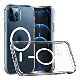 Clear Magnetic Safe Case for iPhone 12/12 Pro with Magsafe,Anti-Scratch Case for iPhone 12/12 Pro[Military Protection][Support Wireless Charging][Anti Yellowing][Built-in Magnetic Circle]