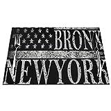 DearLord Manteles individuales de mesa resistentes al calor, lavables y de PVC, de la ciudad de Nueva York Brooklyn estilizada bandera americana de vinilo tejida, juego de 4