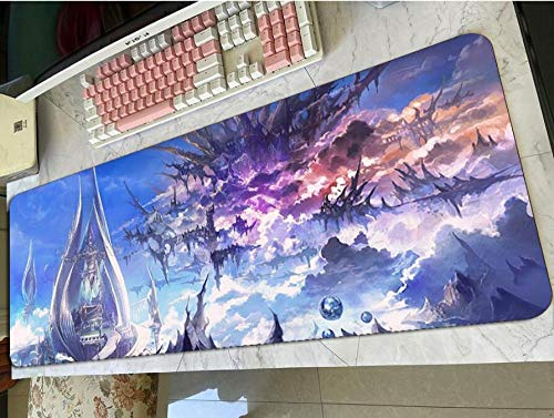 Gaming Mouse pad,Final Fantasy XIV Mouse Pad Gaming Mousepad Anime Cute Office Desk Mat Padmouse Games Pc Gamer Mats Color 1 2XL(40X90Cm)