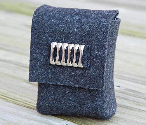 zigbaxx Zigarettenetui CUBE Zigarettenhülle für Zigarettenschachtel 20 Zigaretten oder Big Box XL/XXL/ Täschchen aus Woll-Filz - beige braun anthrazit-schwarz grau rot pink - Geschenk Weihnachten